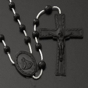 Economical rosaries: Black nylon rosary