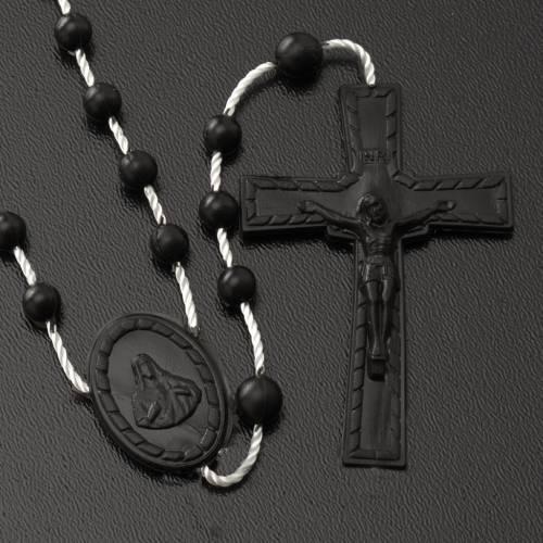 Black nylon rosary s2