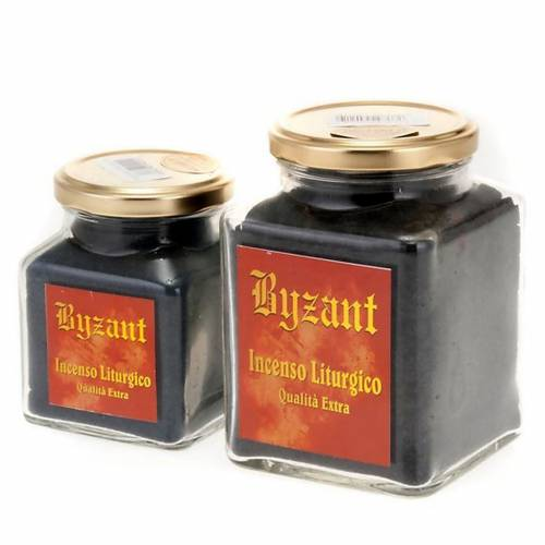 Black styrax incense in glass jar s2