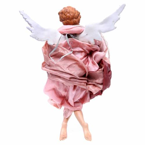 Blonde angel with pink clothes, figurine for Neapolitan Nativity, 45cm s2