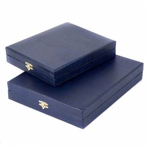 Cases and Stands for icons and pictures: Blue case for icon with internal satin covering