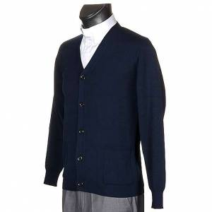 Blue woolen jacket with buttons s2
