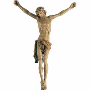Wooden crucifixes: Body of Christ in painted wood 70cm