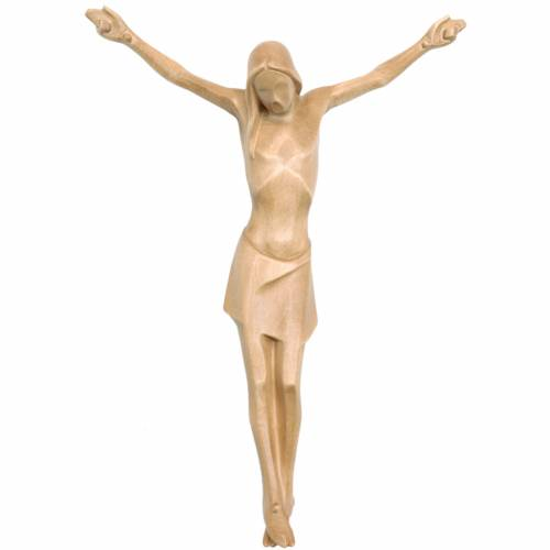 Body of Christ, stylised in Valgardena wood, patinated s1
