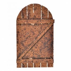 Türen, Geländer: Bogen-Tür für Krippe Holz 12x7 cm