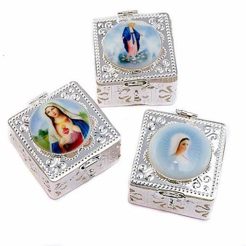 Boîte carrée, filigrane, porcelaine s1