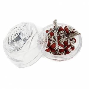 Étuis à chapelets: Boîte petite rose pour chapelets 5 mm