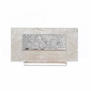 Bomboniere e ricordini: Bomboniera Nascita h 11,5 cm vetro Ambra