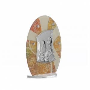 Bonbonnière Communion Garçon argent h 10,5 cm s2