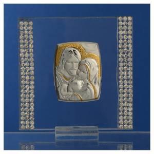 Bonbonnière Mariage Argent et strass Ste Famille 7x7 cm s2