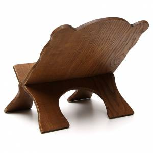 Book stand in black ash wood, simple model, hand carved by the Bethlehem monks s3