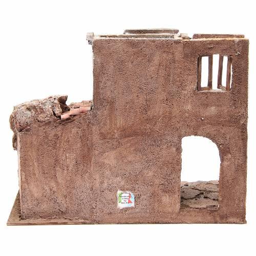 Borgo antico con capanna presepe cm 35x38x25 s4