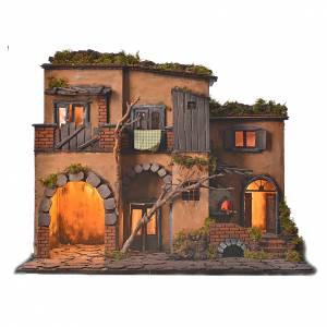 Borgo presepe napoletano stile 700 con forno s1
