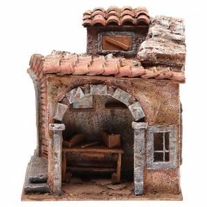 Ambientazioni, botteghe, case, pozzi: Bottega del fabbro per presepe cm 10
