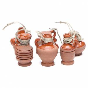 Bottles in terracotta for DIY nativities, 3cm assorted models s1