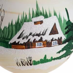 Boule de Noel paysage 14 cm s2