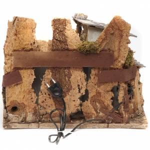 Bourg miniature crèche avec feu 28x38x28 cm s4