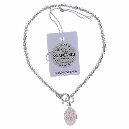 Bracciale ciondolo argento Madonna di Fatima e Swarovski s2