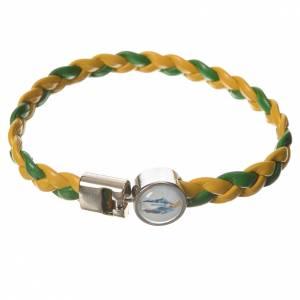 Bracciale intrecciato giallo verde 20cm Miracolosa s1