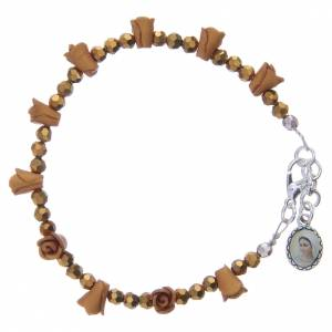 Bracciale rosario Medjugorje color ambra s1