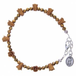 Bracciale rosario Medjugorje color ambra s2