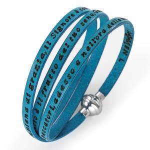 Bracelet Amen Je vous Salue Marie turquoise ITA s1