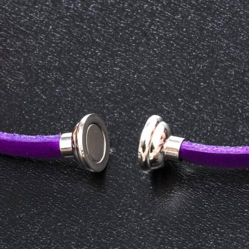 Bracelet Amen Je Vous Salue Marie violet FRA s2