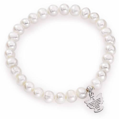Bracelet Amen perles rondes 6/7mm et argent 925 s1