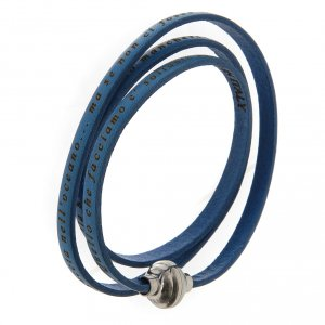 Bracelet AMEN phrase Mère Teresa de Calcutta ITA bleu s2