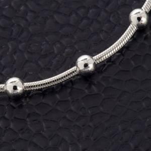 Bracelet argent 925 et rhodium avec croix s4
