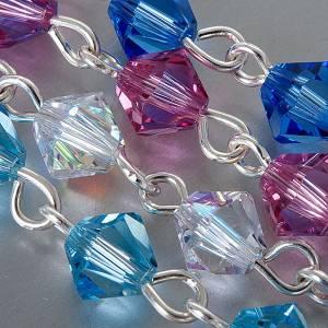 Bracelet-chapelet, à ressort,  perle bleu s5