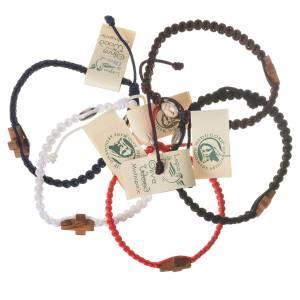 Bracelet corde Medjugorje croix olivier s1