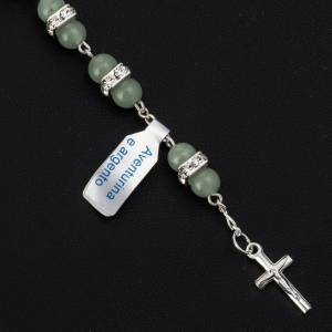 Bracelet dizainier aventurine et argent 800 grains 6mm s2