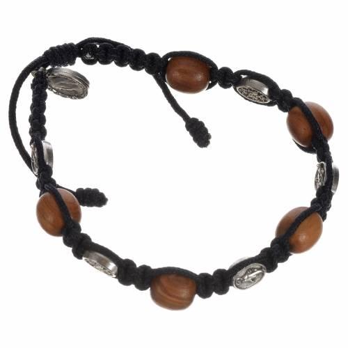 Bracelet dizainier bois olivier médaille Miraculeuse s4