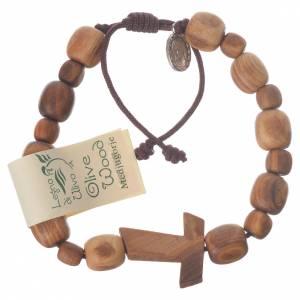 Bracelet en olivier de Medjugorje Tau s1