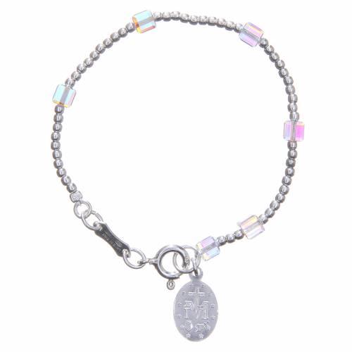 Bracelet fille cristaux Swarovski cubes blancs s2