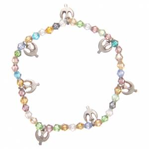 Bracelet paix perles couleur pastel s1