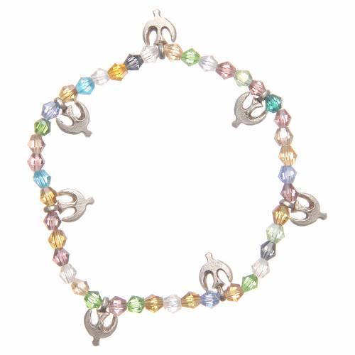 Bracelet paix perles couleur pastel 1