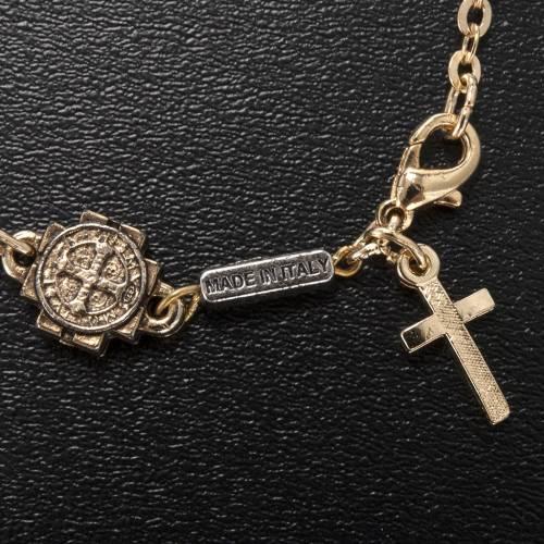 Bracelet prière Ghirelli Saint Benoit verre s3