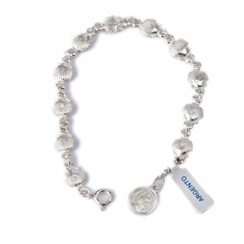 Bracelet St Jacques de Compostelle argent 800 s1
