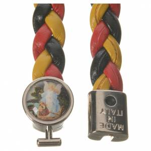 Bracelet tressé 20 cm Ange jaune/noir/rouge s2