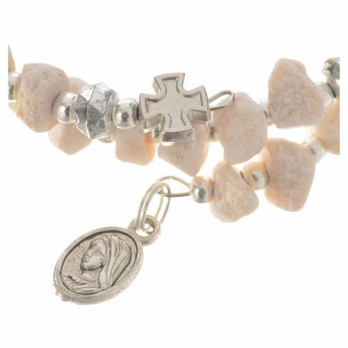 Bracelet with spring in white stone s2