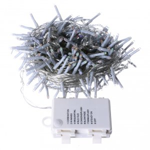 Bright Christmas cable 240 leds multicoloured with memory and timer external use with batteries s4