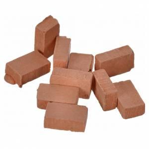 Briques en miniature 10x7 lot 100 pcs résine s2