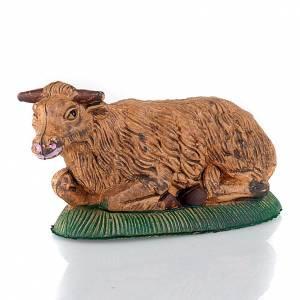 Animales para el pesebre: Buey para el pesebre colores patinados 13 cm
