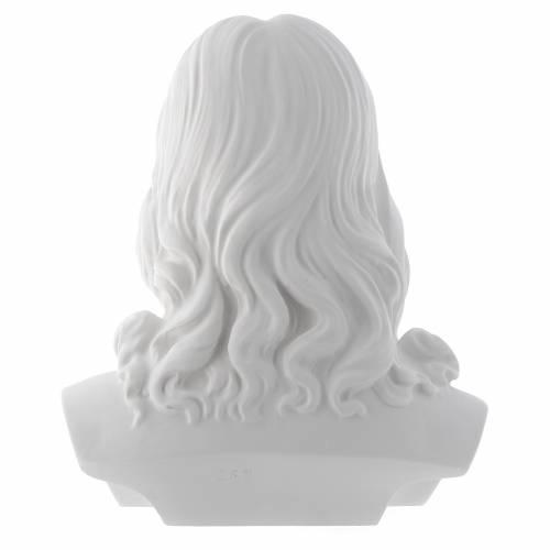 Buste du Christ 33 cm poudre de marbre s3