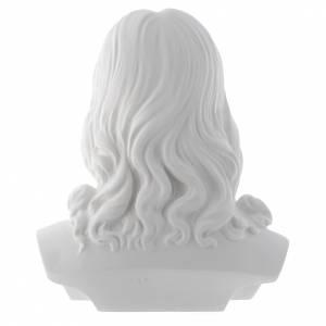 Busto di Cristo cm 33 polvere di marmo s3