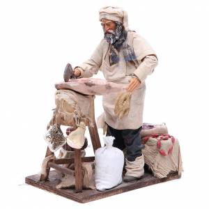 Butcher figurine for animated Neapolitan Nativity, 24cm s2