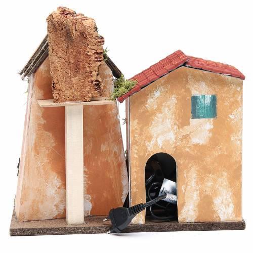 Cabane crèche 31x33x18 avec fontaine électrique s4
