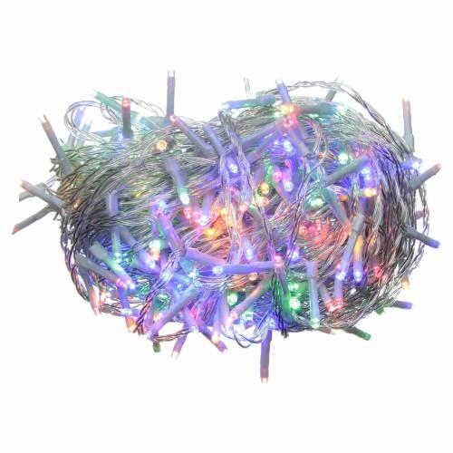 Cadena de luces de Navidad 240 LED multicolor programables con batería para exterior s1